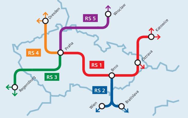 """Síť rychlých spojení České republiky (RS) – """"metro"""" pro ČR"""