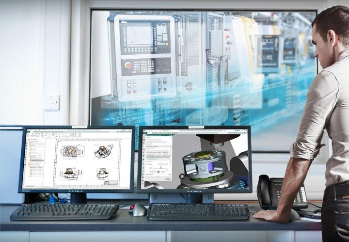 V digitalizované strojírenské výrobě jsou lidé, systémy a zařízení propojeny s digitálním vláknem, které zajišťuje, že se v každé fázi procesu používají správná data. Tento vysoce efektivní proces výroby dílů snižuje náklady a zvyšuje výkonnost.