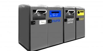Koše na směsný odpad, propojené přes internet, vložené předměty samy zmačkají a zabudované čidlo při naplnění ohlásí svozové firmě naplněnost a nutnost svozu.